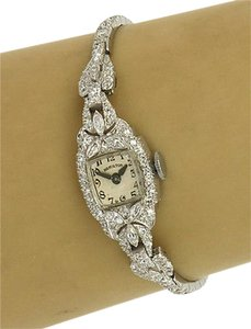 Hamilton Hamilton Platinum 2.65ctw Diamond Mechanical Ladies Luxury Wrist Watch
