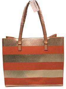 Neiman Marcus Tote in Gold, Orange