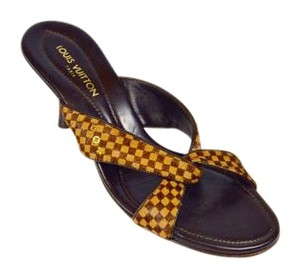 Louis Vuitton Pony Hair Sandals Brown Mules