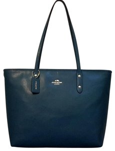Coach Tote in Teal Blue