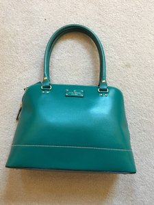 Kate Spade Leather Satchel in Green
