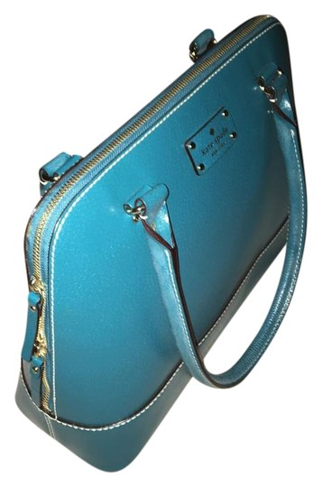 Kate Spade Leather Satchel in Green Image 1
