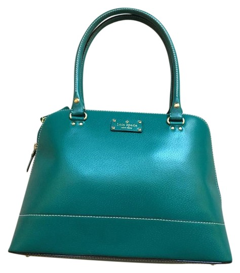 Kate Spade Leather Satchel in Green Image 2