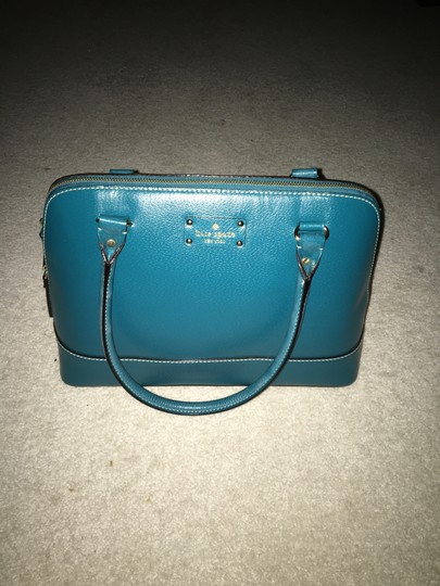 Kate Spade Leather Satchel in Green Image 3