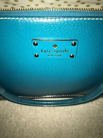 Kate Spade Leather Satchel in Green Image 9