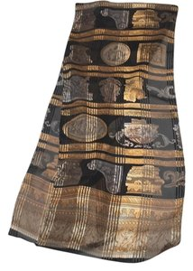 Other Long Black Gold Roman Greek Scarf