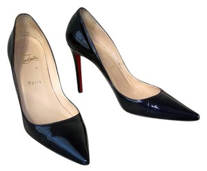 Christian Louboutin Navy Blue Patent Pumps