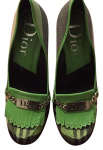 Dior Navy blue/beige/neon green Pumps
