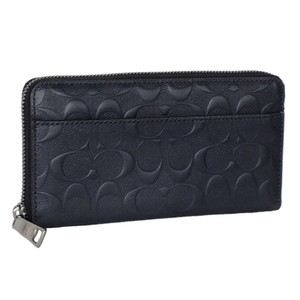 Coach NEW COACH men's Embossed logo leather zip around phone long wallet