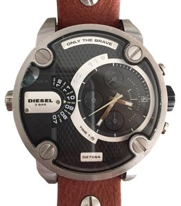 Diesel DIESEL SBA Dual Time Chronograph Stainless Steel Men's Watch