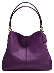 Coach Pebbled Leather Phoebe Hobo Bag