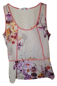 Collective Concepts Peplum Floral Spring Top Pastel Pink