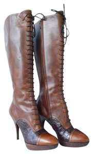 Louis Vuitton Leather Brown Boots