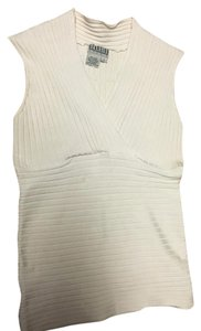 Georgiou Knit Silk Top Creme