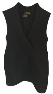 Georgiou Silk Knit Top Black