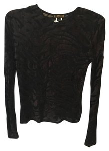Georgiou Velvet Cut-out Longsleeve Top Brown
