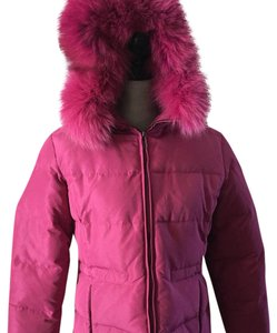 1 Madison Fur Ski Snowboard Winter Designer Raspberry Jacket