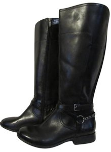 Marc Fisher Wide Calf Chain Buckle Tall black Boots