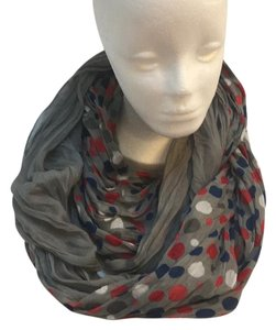 Other Gray Polka Dots Infinity Loop Scarf