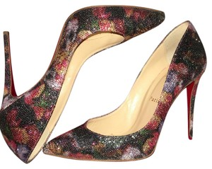 Christian Louboutin Multi-Color Glitter Pumps