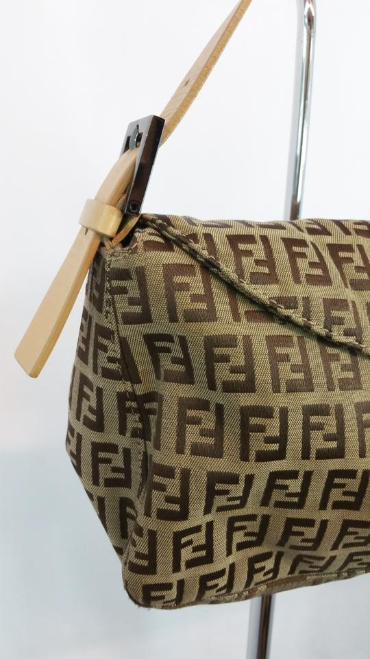 8d93cfbe9f Fendi Zucca Monogram Flap Over Brown Canvas Shoulder Bag - Tradesy