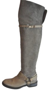 Brunello Cucinelli Distressed Over The Knee Tan Size 8b Beige Tan Boots
