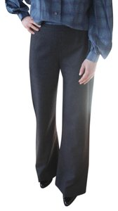 Valentino Wool Wool Straight Pants Grey