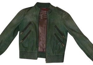 Alice + Olivia Green Leather Jacket