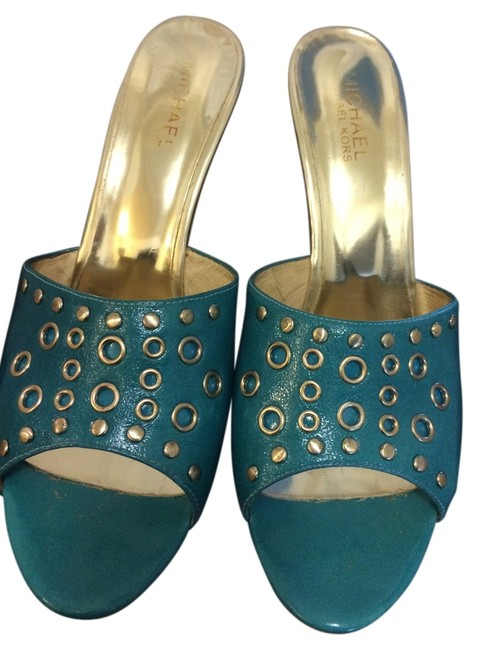 Item - Turquoise Blue Mules/Slides Size US 10 Regular (M, B)