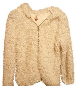 No Boundaries Shaggy Coat Fur Cream Jacket