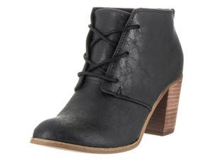 TOMS Lunata Lace-up Bootie Black Metallic Boots