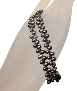 Kay Jewelers Peacock Seed Pearl Double Strand Toggle Bracelet
