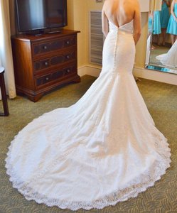 Allure Bridals Ivory Lace 9259 Traditional Wedding Dress Size 4 (S)