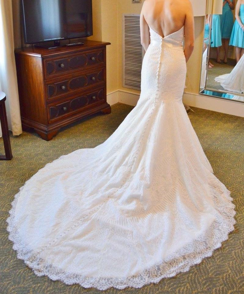 Allure Bridals Ivory Lace 9259 Traditional Wedding Dress Size 4 S