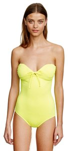 J.Crew J. Crew NEON GREEN TIE-FRONT BANDEAU ONE-PIECE SWIMSUIT Size 2