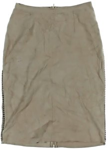 Les Copains Braided Accents Skirt Beige