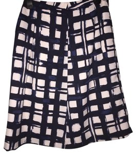 The Limited Work Skirt Black White Blue