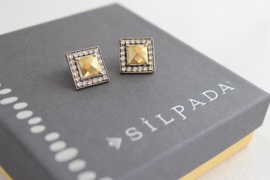 Silpada Silpada Gilded Cage Sterling Silver and Brass Earring P3126 Image 1