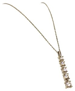 Nina Ricci Nina Ricci Vintage Drop Crystal Dainty Chain Line Necklace
