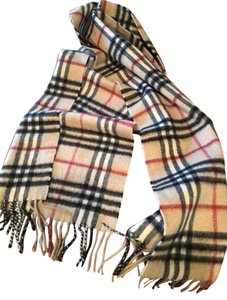 Burberry Authentic Burberry 100% Cashmere Beige CHECK Scarf