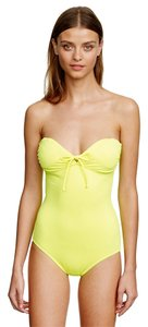 J.Crew J. Crew NEON GREEN TIE-FRONT BANDEAU ONE-PIECE SWIMSUIT Size 6