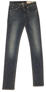 Rag & Bone Medium Dark Skinny Jeans-Medium Wash