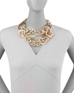 Oscar de la Renta Sculpted Chain Necklace