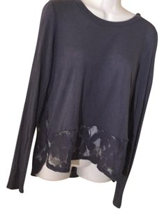 Chloe K Lace Bottom Blue Chloe Shirt T Shirt Gray blue