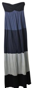 Blue Maxi Dress by Hollister Maxi Color-blocking Halter