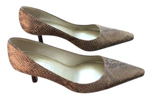 Talbots Brown and Gold Pumps