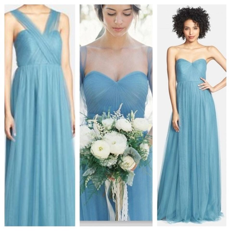 Jenny Yoo Vintage Teal Tulle Annabelle Traditional Bridesmaid/Mob ...