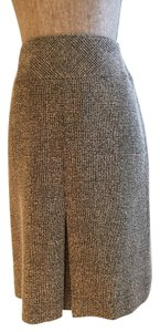 Size Small Pleated Casual Skirt Black/Beige
