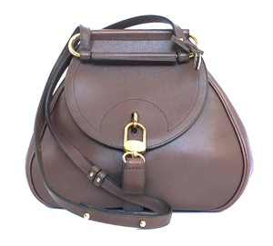 Delvaux Belgium Brown Mauve Taupe Shoulder Bag