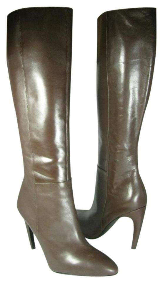 Via Spiga Brown Bethany Leather Boots/Booties Knee-high Heel Boots/Booties Leather 4858a6